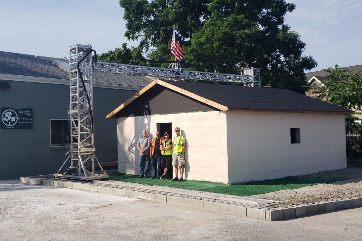 The 500-sq-ft (46-sq-m) structure was built in a similar fashion to other 3D-printed houses we've seen