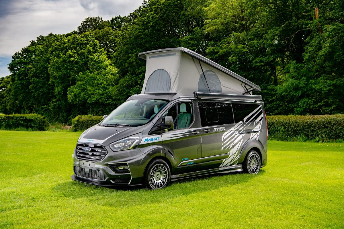 Sporty exterior, luxury interior for this Ford Transit Custom campervan conversion