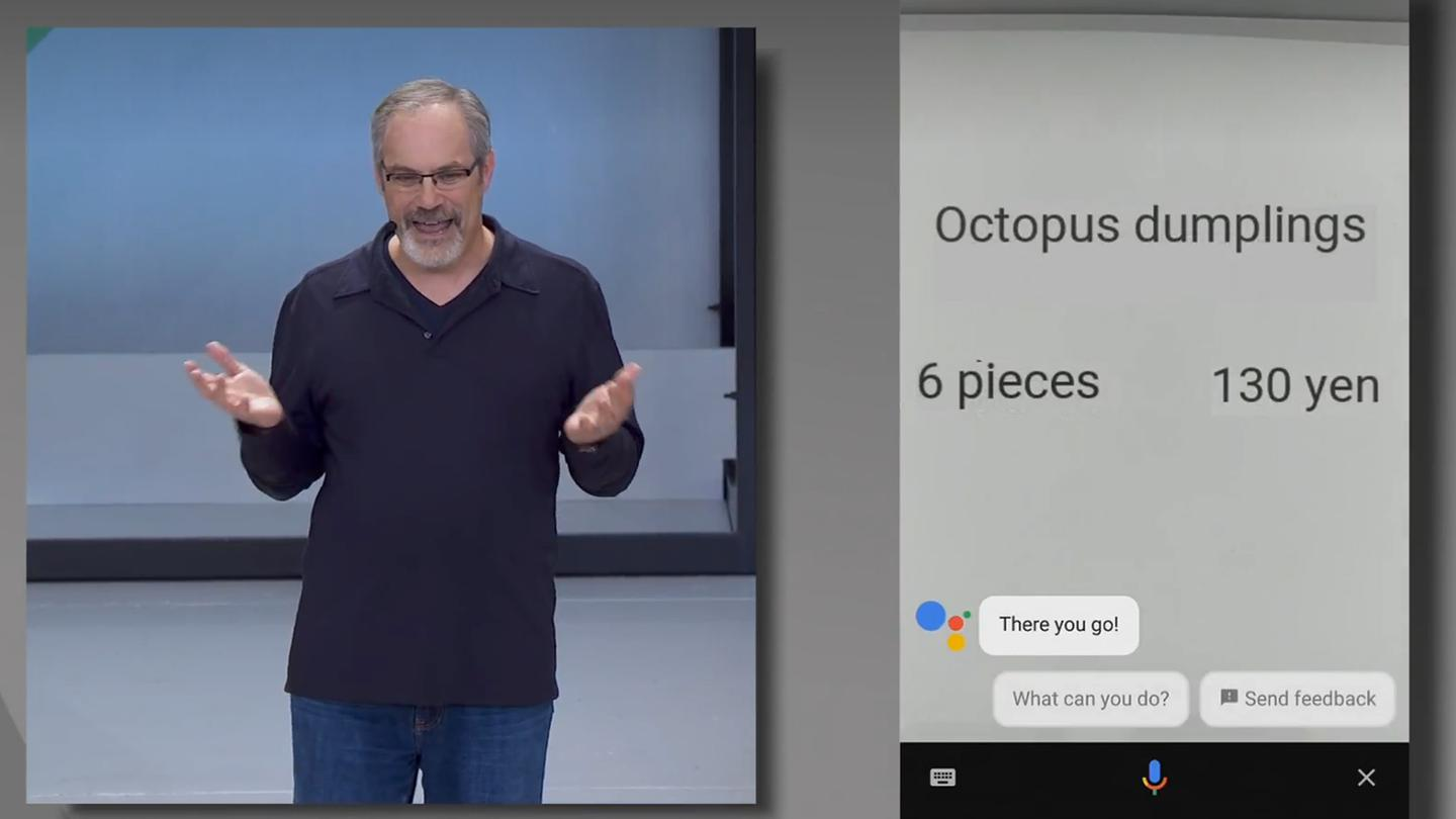 In conjunction with Google Assistant,Google Lens can automatically translate signs