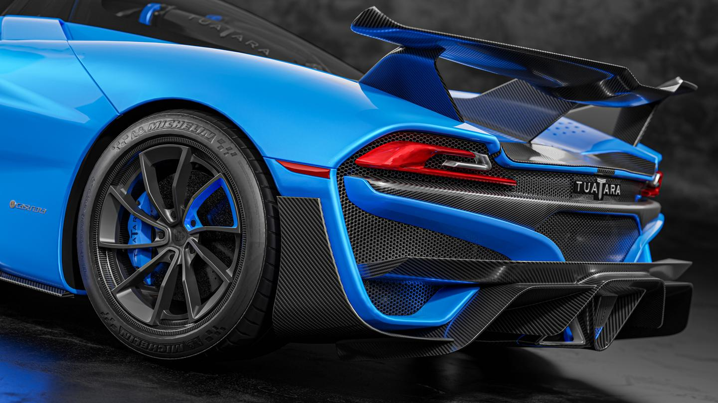 SSC gives the Tuatara a shelf's worth of rear diffuser