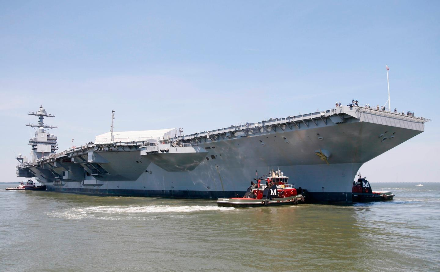 The USS Gerald R Ford is scheduled to be commissioned later this year