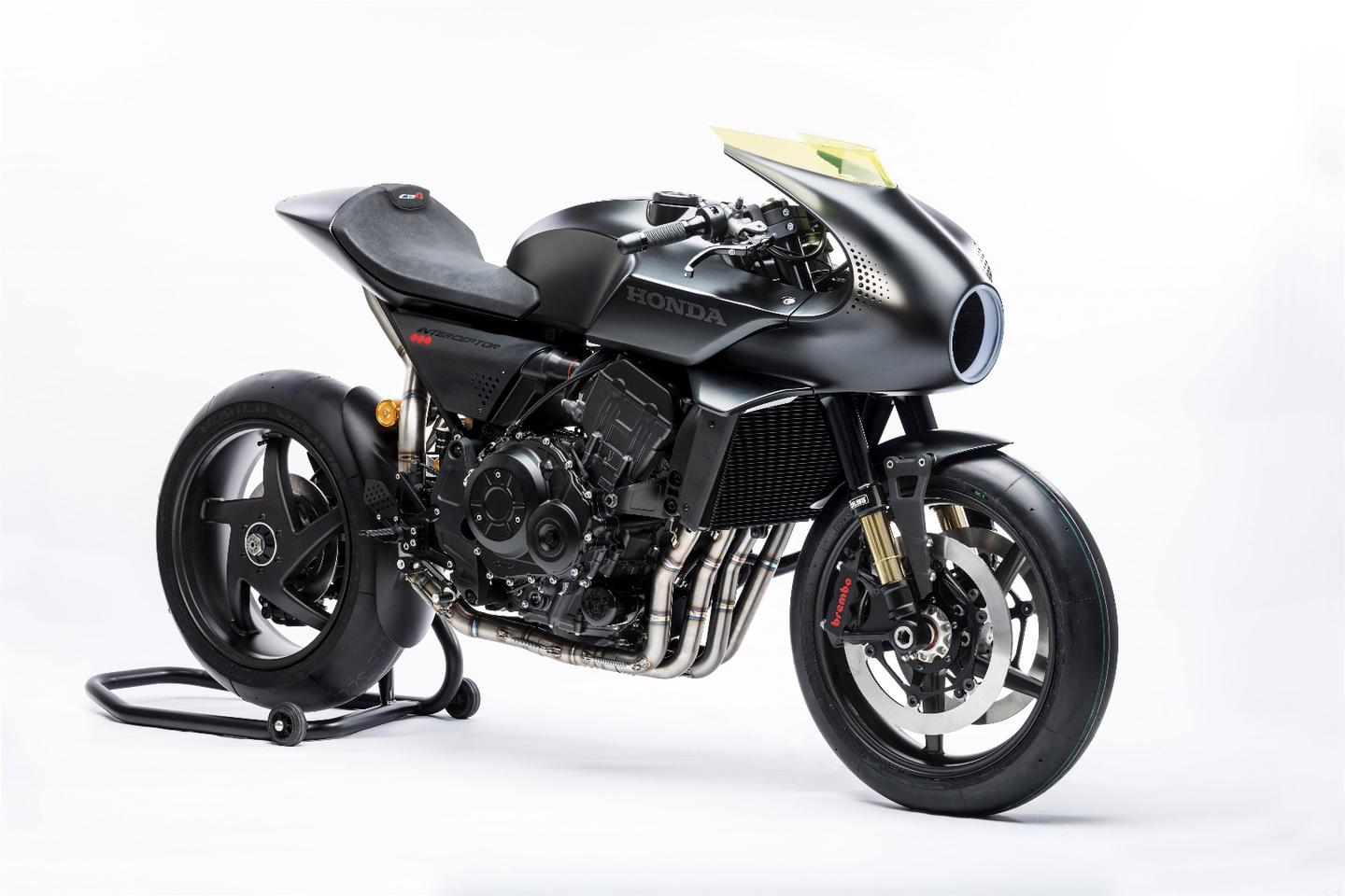 Honda's CB4 Interceptor concept catapults the retro cafe racer style into the future