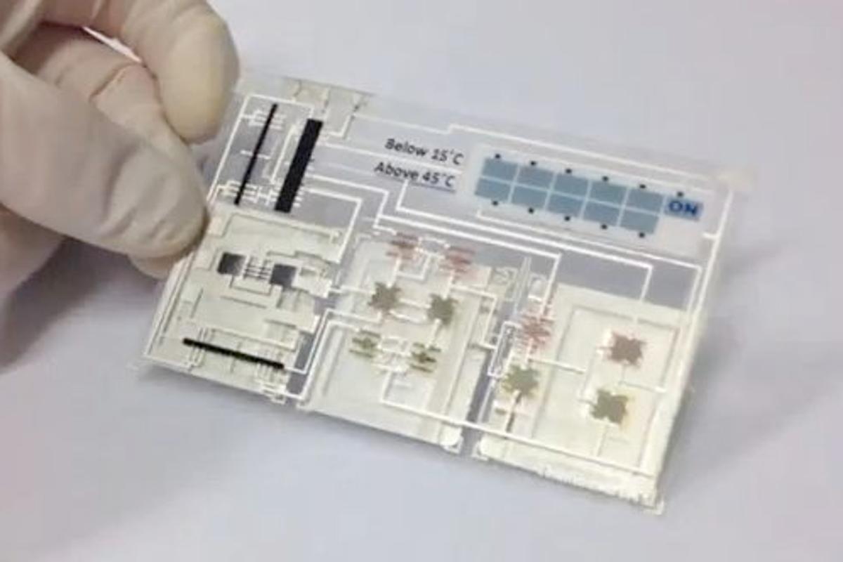 The functioning Smart Sensor Label prototype