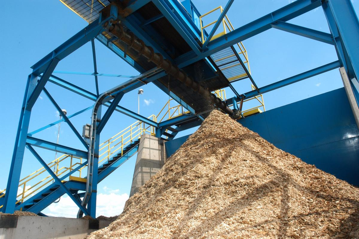 A pile of forest-industry waste, that could potentially be converted to biofuel