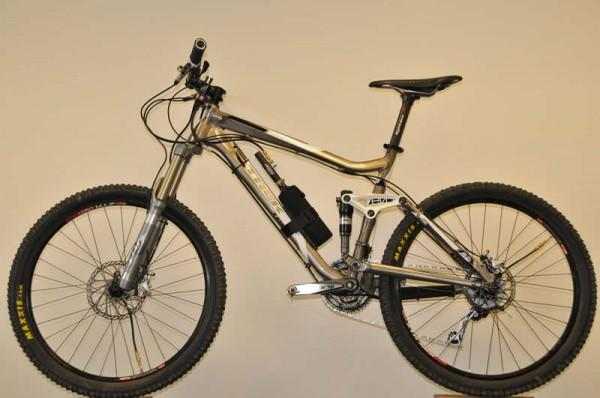 A mountain bike with the full ADAPTRAC system
