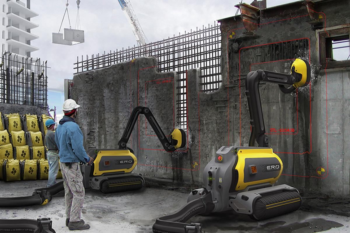 Artist's concept of ERO the demolition robot in action