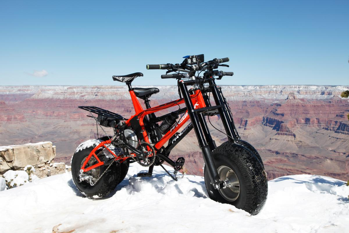 The Ducati-inspired RockShock air suspension is said to result in improved performance on steep or rocky trails