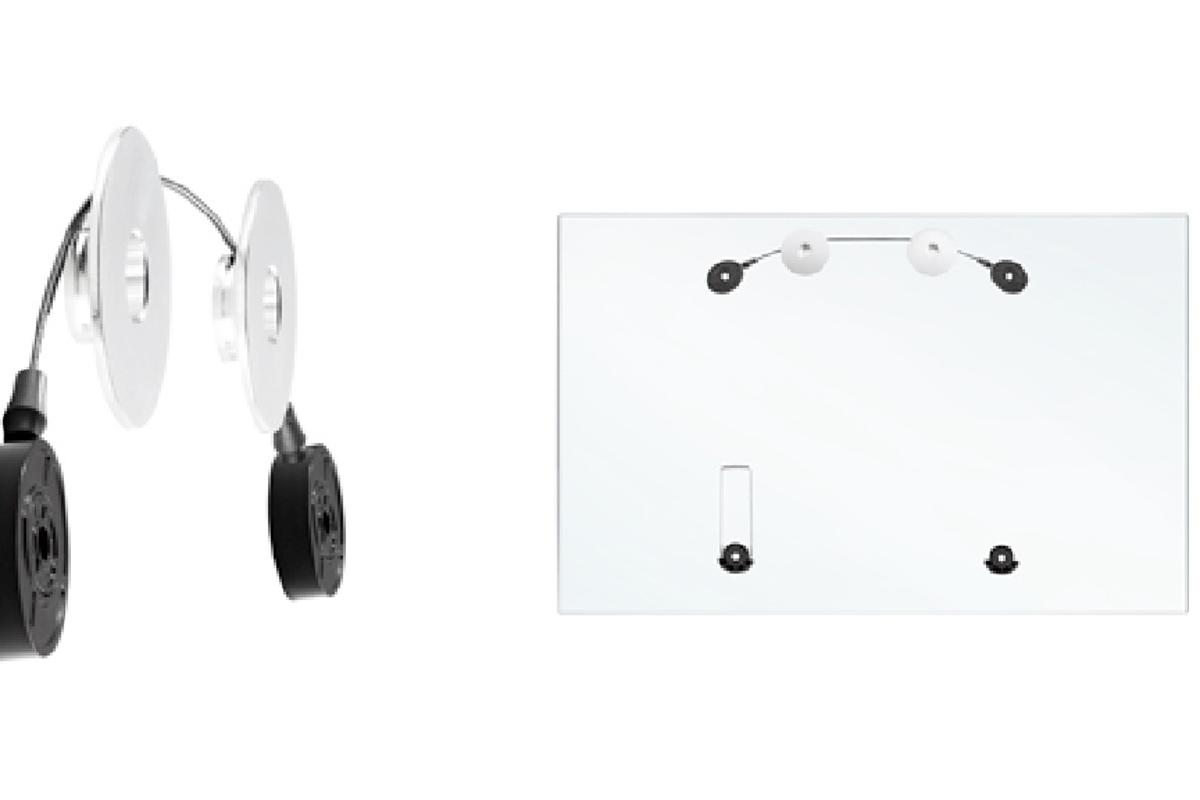 The Atdec Telehook TH-400-LED is a wire-based slim mount that can hang TVs weighing up to 50kgs similar to how you would hang a picture on a wall