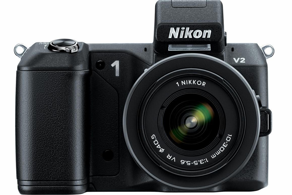 The Nikon 1 V2 features a 14.2-million-pixel CX-format CMOS sensor