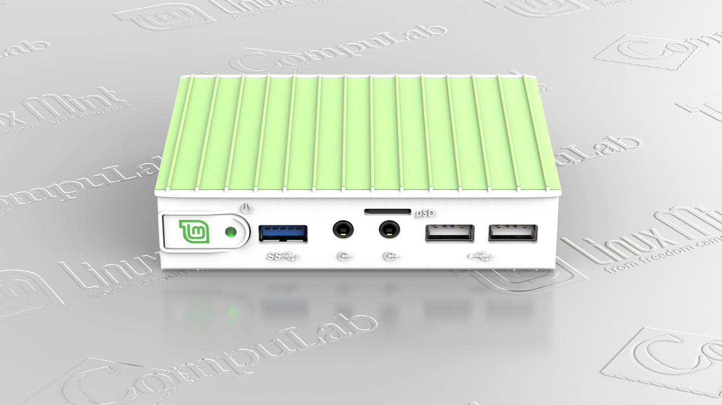 The MintBox Mini features an AMD A4 6400T processor, a Radeon R3 GPU, 4 GB of DDR3 RAM (supports up 8 GB) and 64 GB of solid state storage