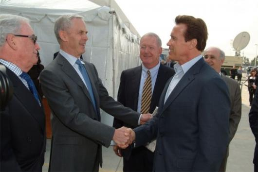 John Bryson with Gov. Schwarzeneggar