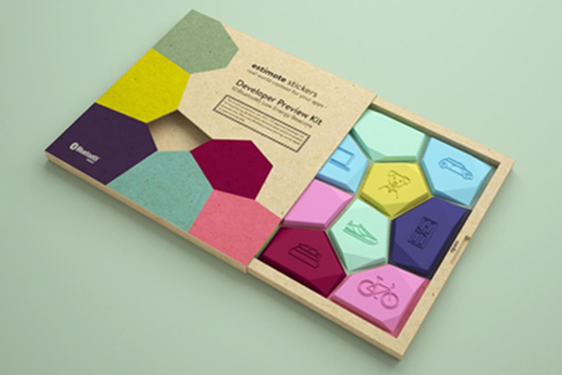 Estimote Nearables are stickers that can be attached to everyday objects, detecting location, temperature and motion