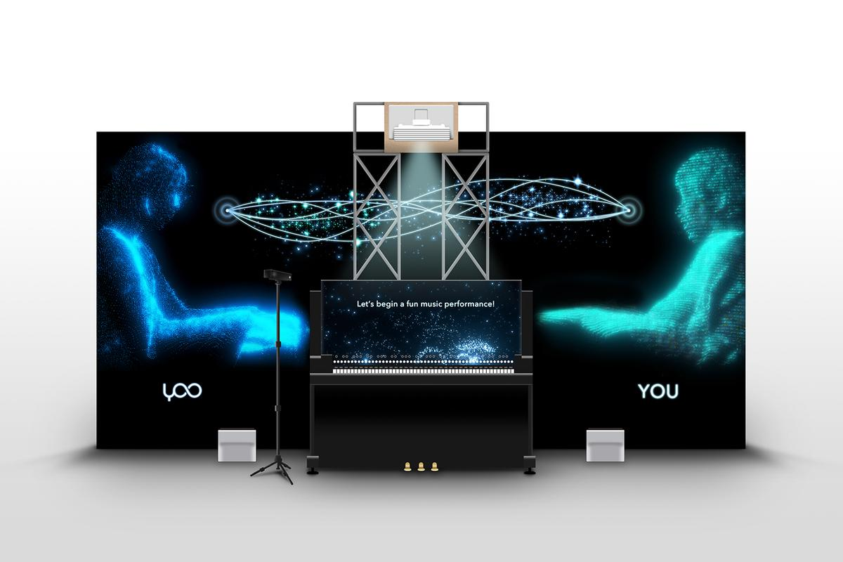 The Duet With Yoo installation at SXSW, where human pianists can experience AI-driven accompaniment in real time