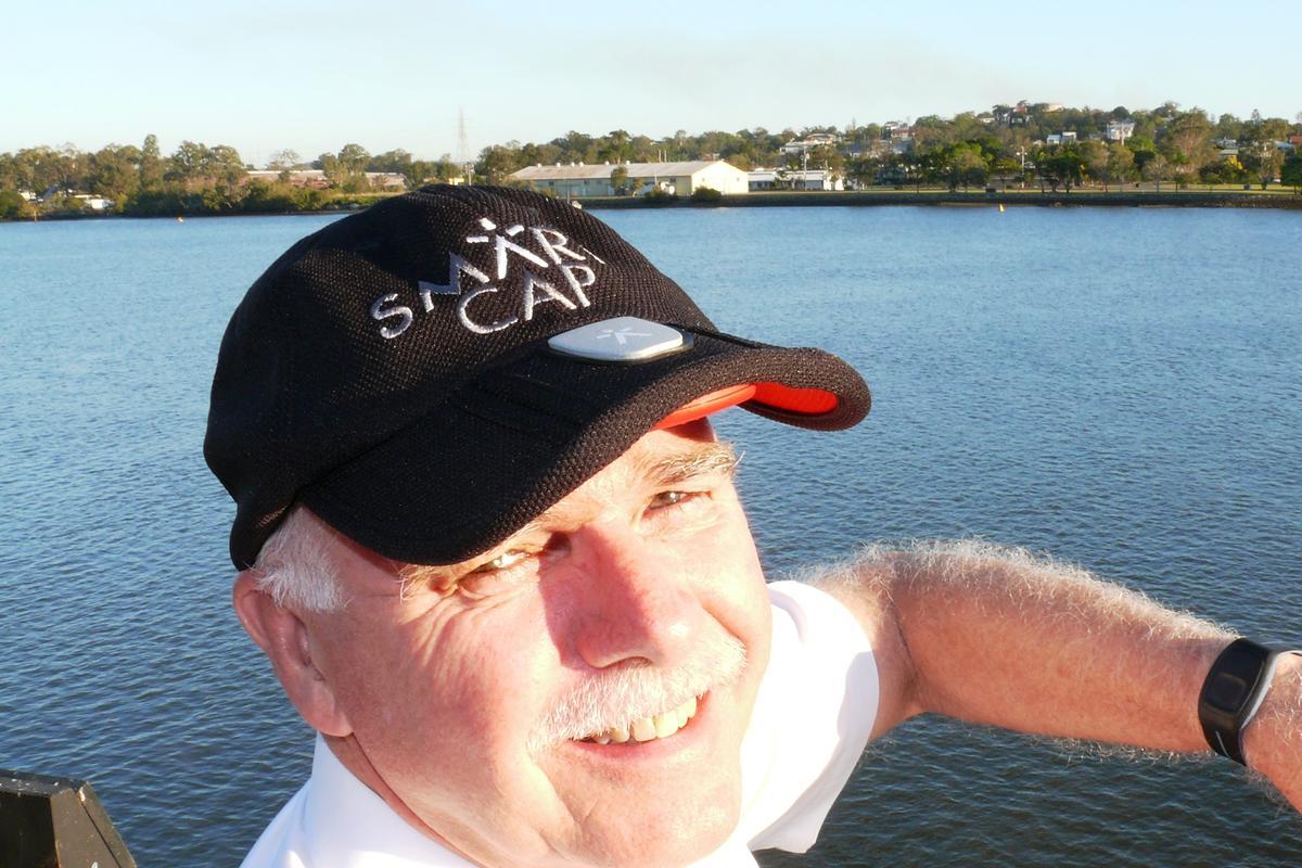 ARP Chief Pilot Roger Rusling models the Smartcap