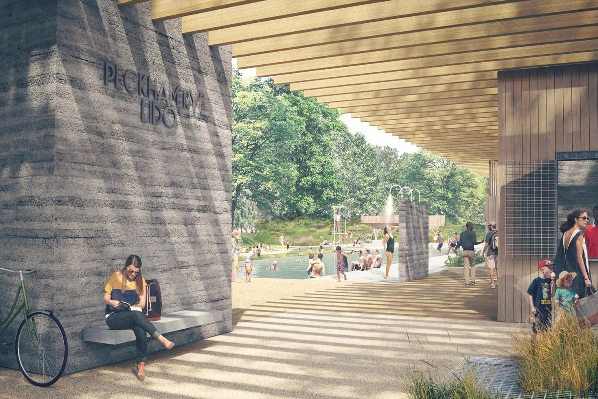 Peckham Rye Lido will have an Olympic-size heated pool and a separate natural pool with water possibly sourced from the subterranean River Peck