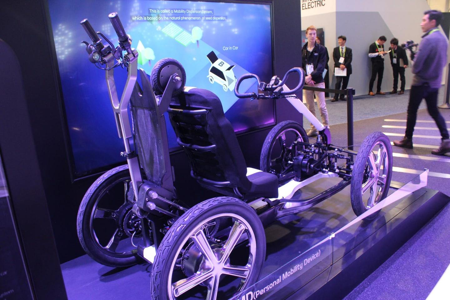 """The SEED Car is pedalled by its driver, with a motor providing """"a high degree of electric power assistance to make it effortless"""""""