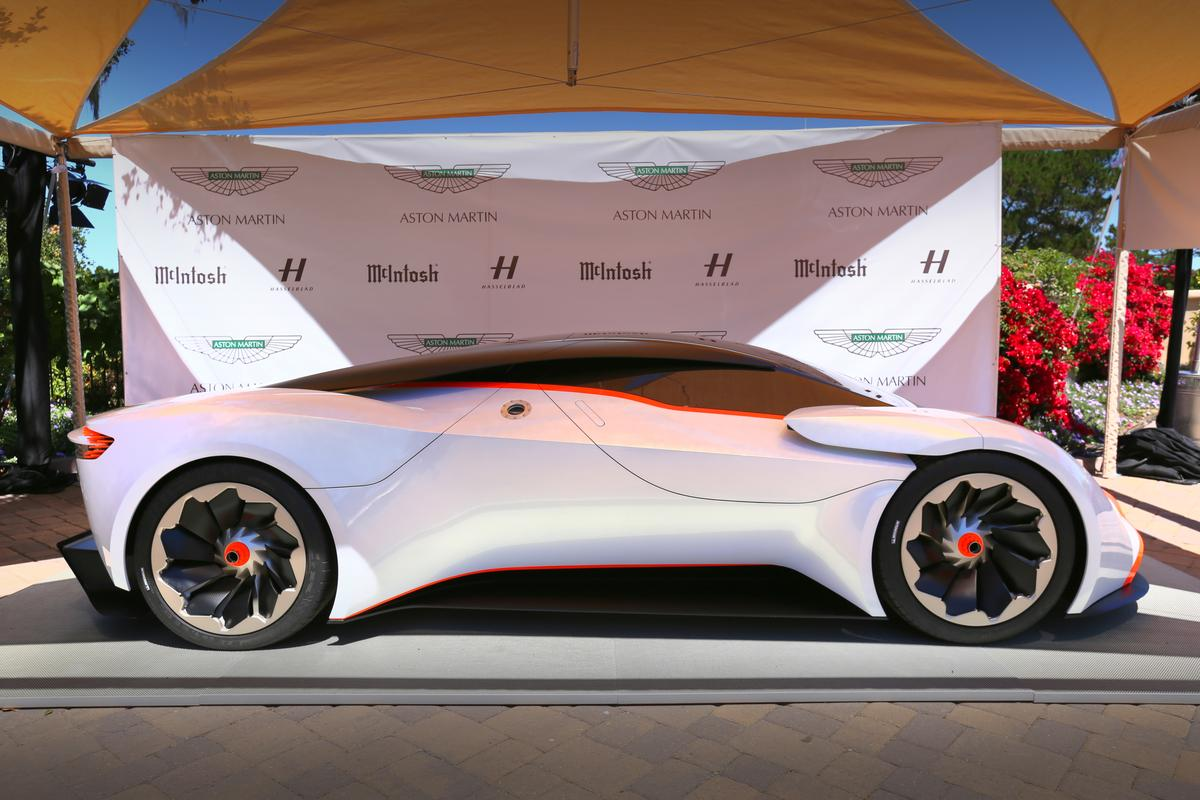 The Aston Martin DP-100 Vision Gran Turismo concept was on display at a private event at the recent Monterey Auto Week (Photo: Angus MacKenzie/Gizmag.com)
