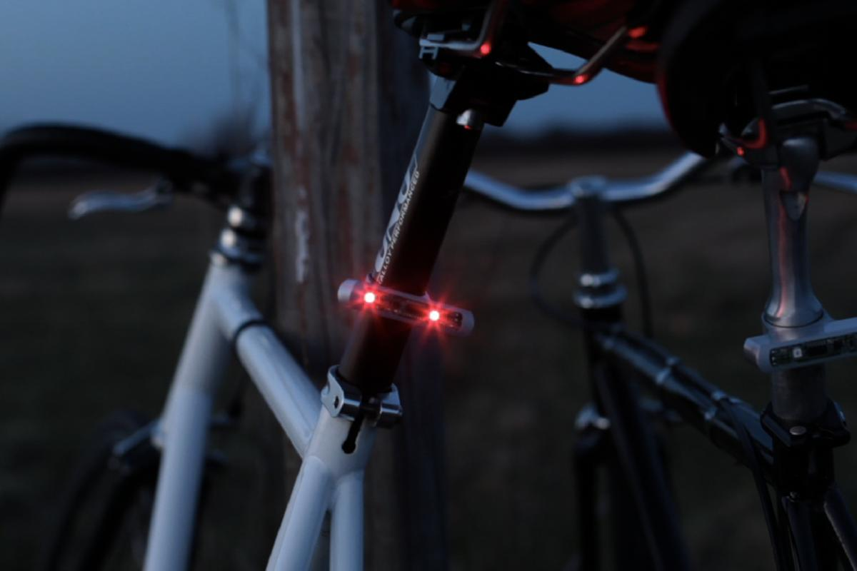 The Blink/Steady Bike Light automatically comes on once it's dark enough for a light to be required, and the bicycle is in motion