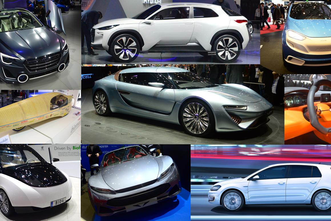 New green designs at the 2014 Geneva Motor Show