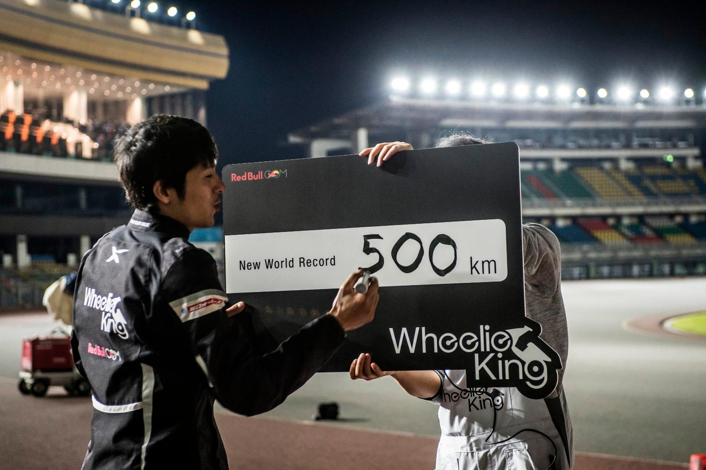 Japan's Masaru Abe is the new Wheelie King after a monster 500km minger