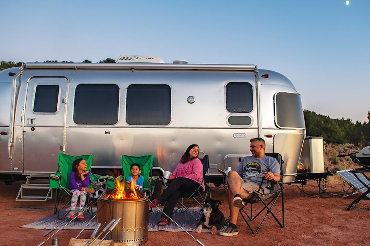 Working from home never looked so good thanks to the Airstream Flying Cloud 30FB Office trailer