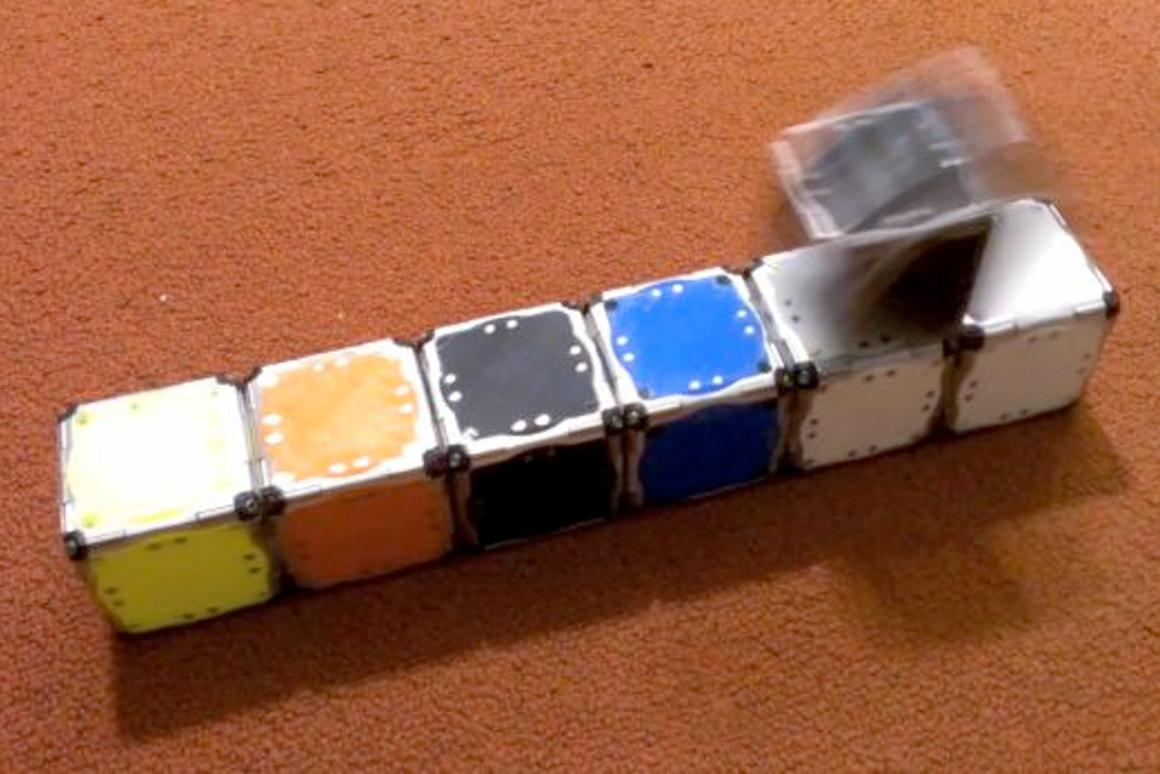M-Blocks are able to roll, jump and join together (Photo: MIT)