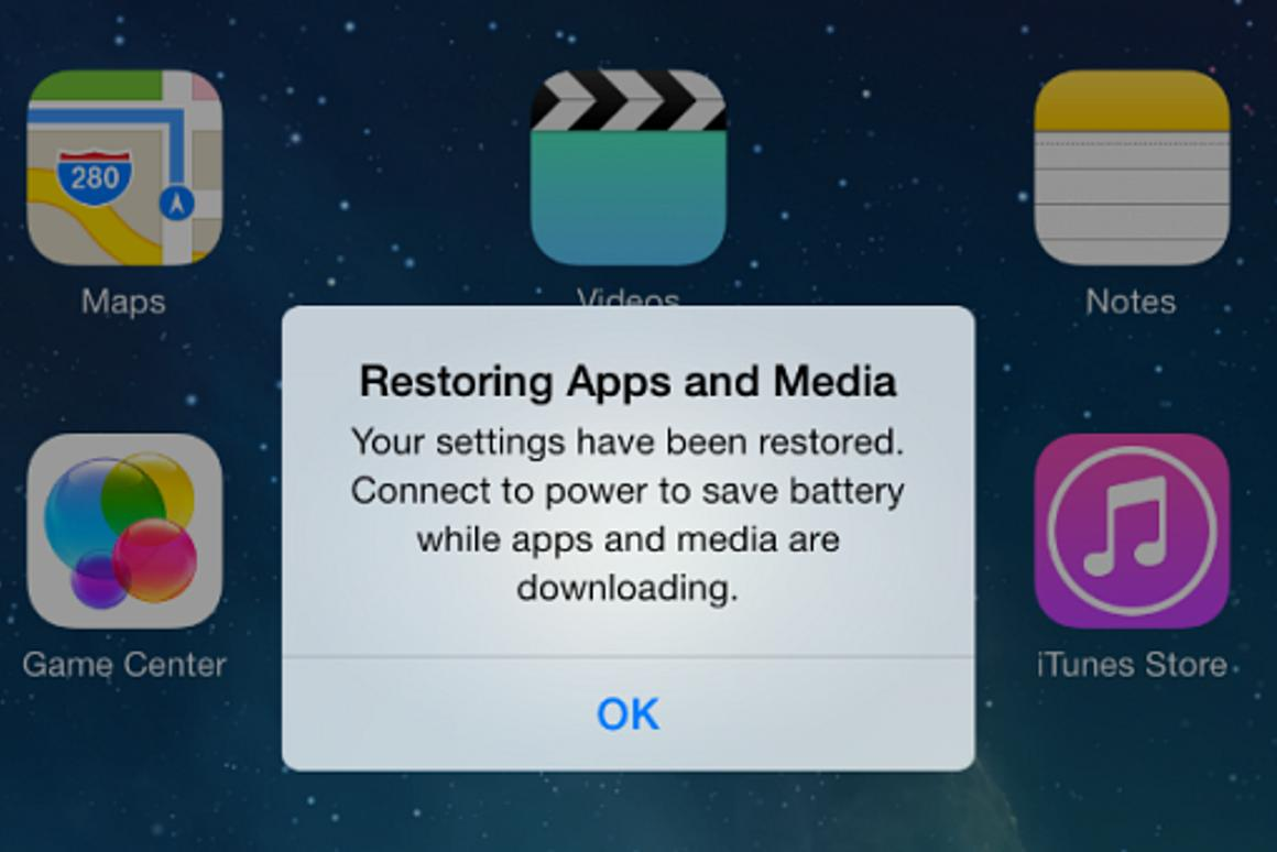 How to restore iOS 7 from an iOS 6 iCloud backup