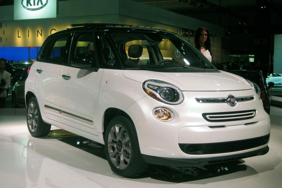 The Fiat 500L, as spied by Gizmag at the LA Auto Show this week