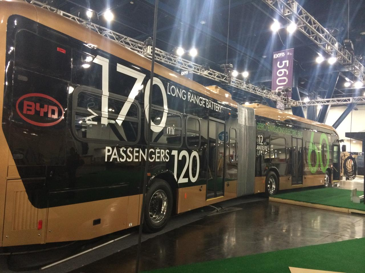 The world's largest battery electric vehicle carries 120 passengers over 170 miles per single electric charge