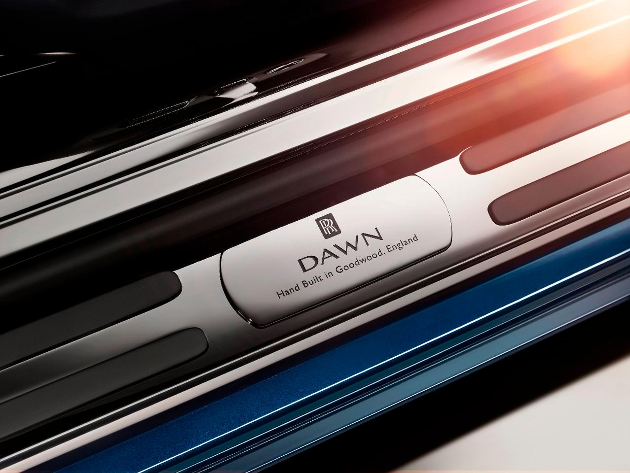 Just in case you forget what your car is called, the Dawn is full of little touches to make owners feel special