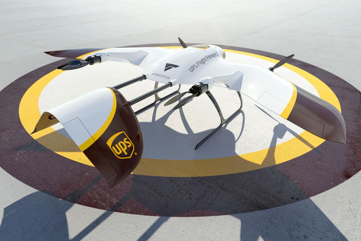 UPS Flight Forward and Wingcopter have partnered to work on next generation package deliver drones
