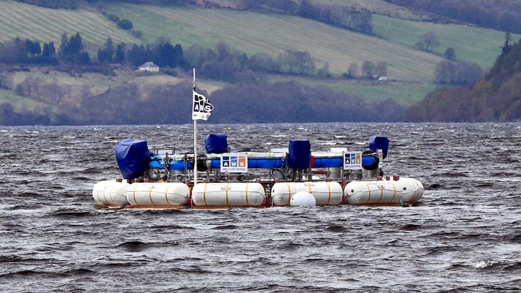 The 1/9th scale version of the AWS III wave energy system at Loch Ness