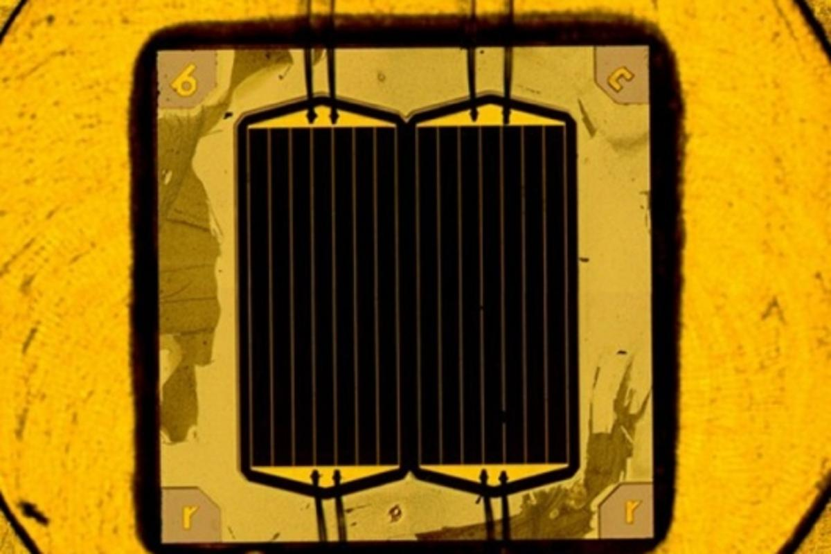 New world record solar cell (Image: Fraunhofer ISE)