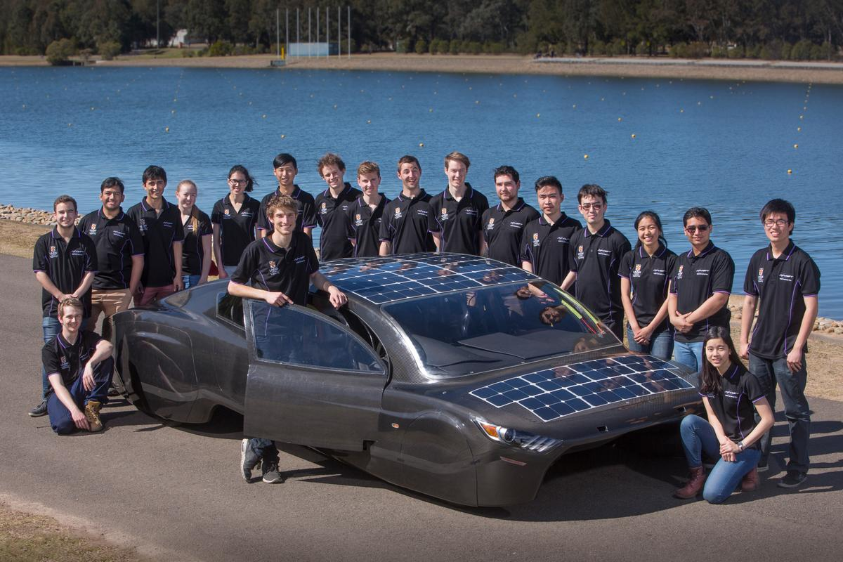 The Sunswift Violet four-seat electric sedan has been designed and built byundergraduate student members of the Sunswift solar racing team at the University of New South Wales