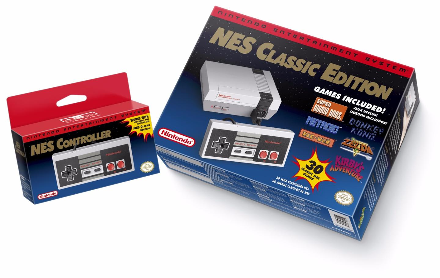 The Classic Mini comes with an HDMI cable via which to connect it to an HDTV, an AC adapter and one NES Classic Controller