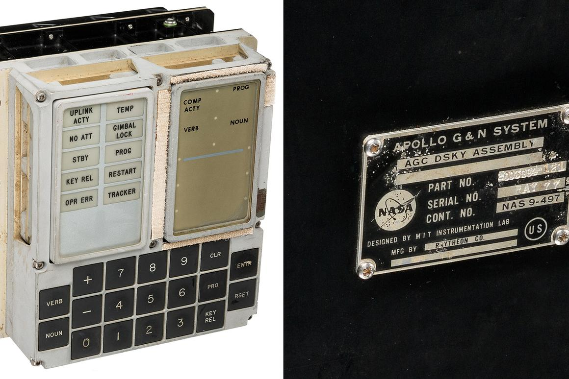 The Apollo Guidance Computer Display and Keyboard (DSKY)sold for $93,750