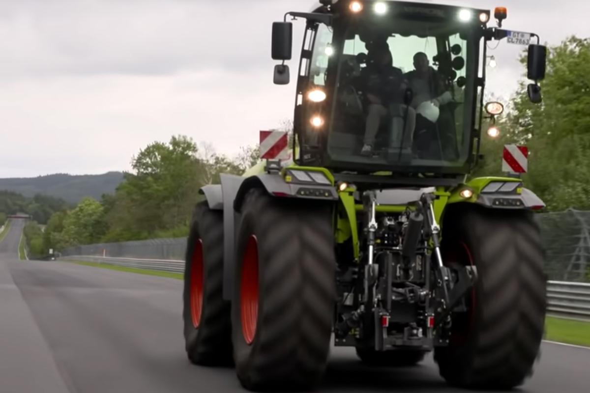 Christian Menzel lays down a scorching new lap time for tractors on the Nurburgring