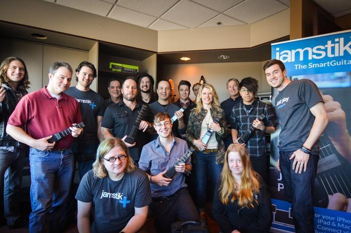 The Zivix development team with the new jamstik+