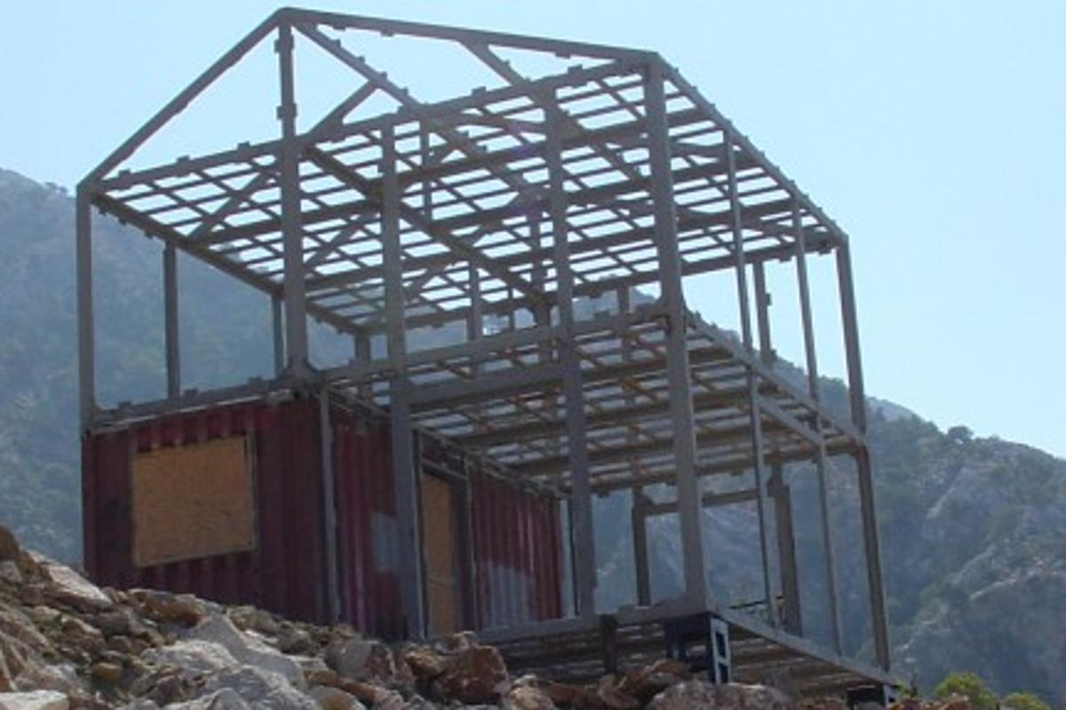 The original prototype Eco-Pak house constructed in Turkey