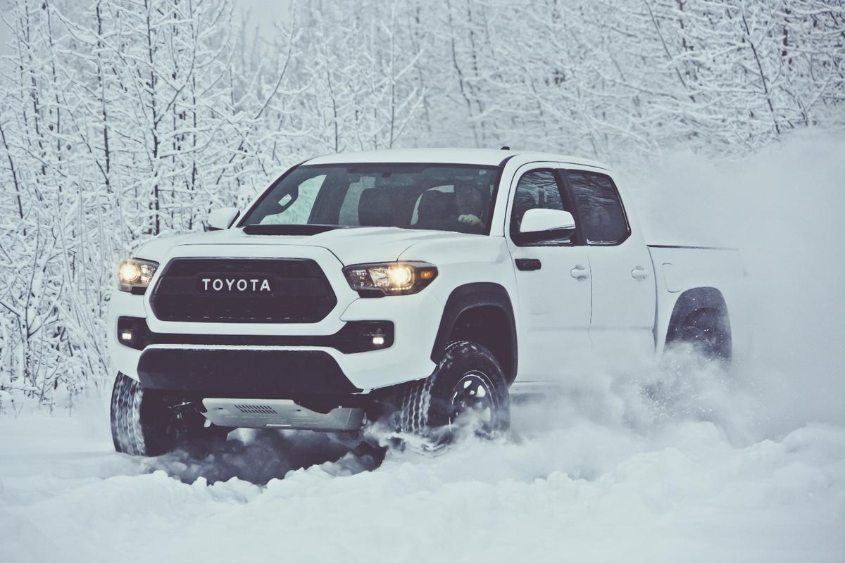The 2017 Toyota Tacoma TRD Pro is lifted by an extra inch over the standard Tacoma models