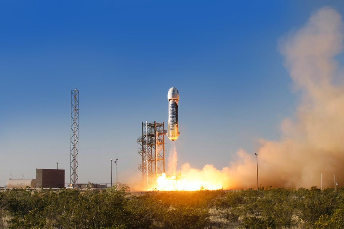 Blue Origin's first developmental test launch (Photo: Blue Origin)