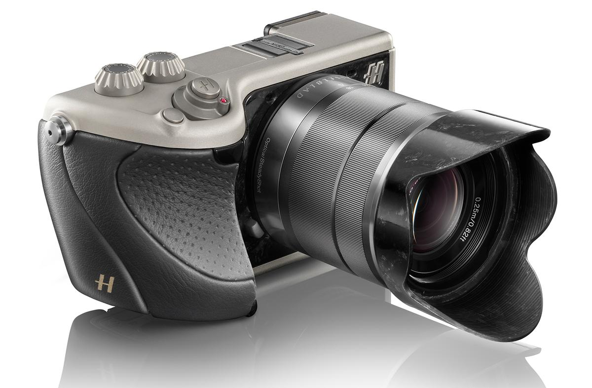 The Hasselblad Lunar collection includes a model with a black leather grip