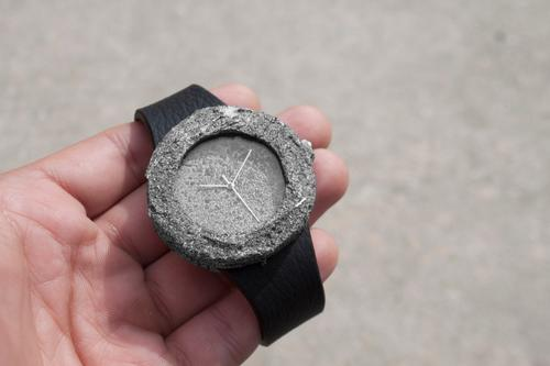 The Lunar Watch is made from moon rocks collected in 1974