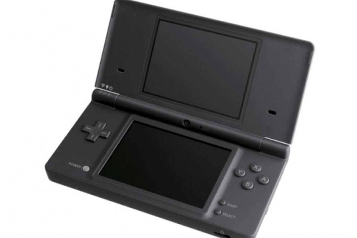 The Nintendo DSi looking chic in basic black