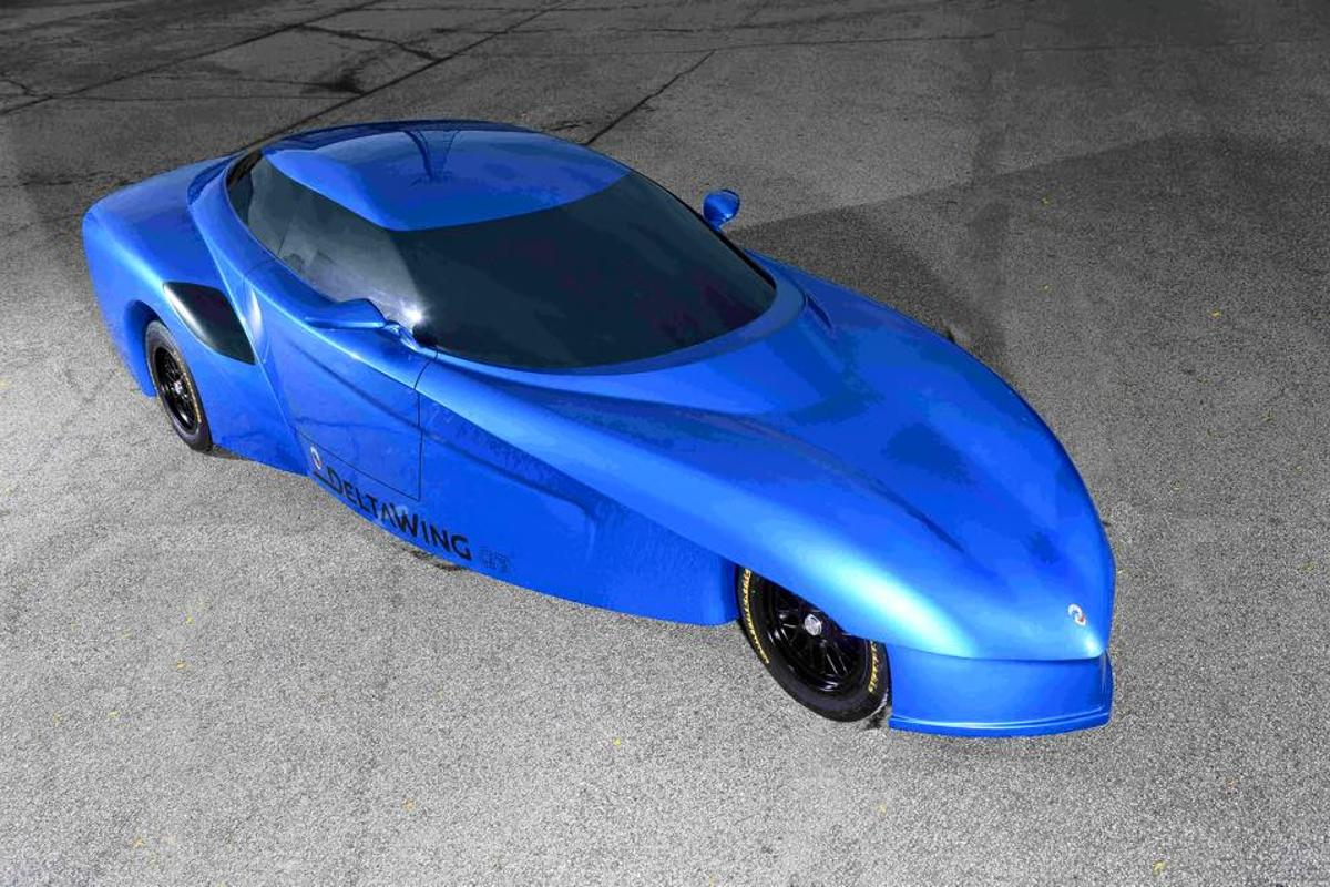 The DeltaWing street-legal GT concept makes a debut