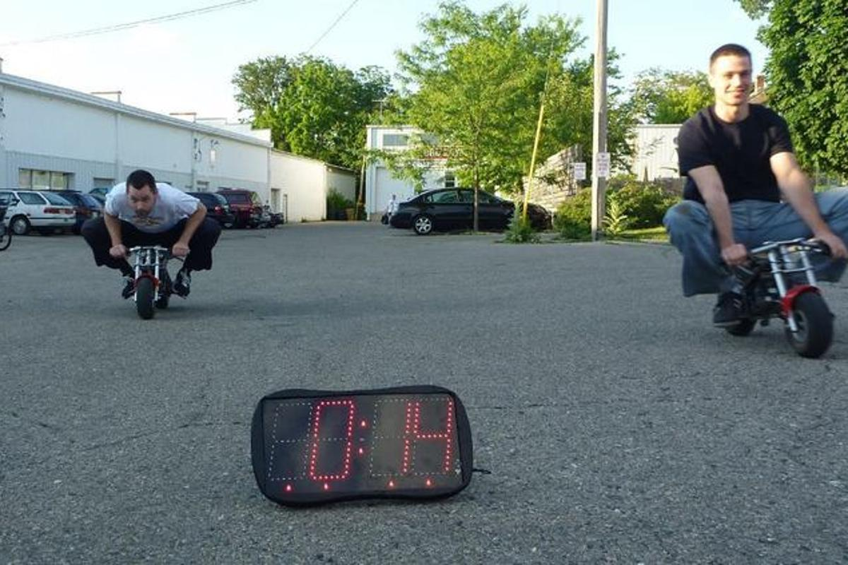 The Portable Scoreboard can be used for all kinds of activities...even mini bike races