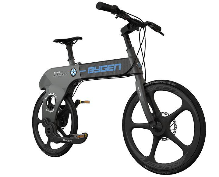 Thanks to the use of carbon fiber in its frame and 20-inch wheels, along with its unique design, the Hank reportedly weighs in at just 7 kg (15 lb)