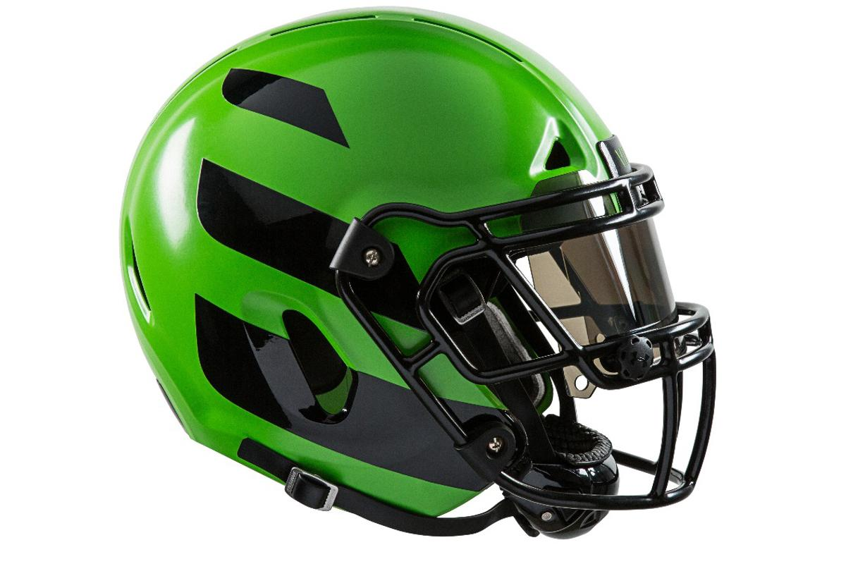 The Zero1 helmet has an outer shell that bends under pressure