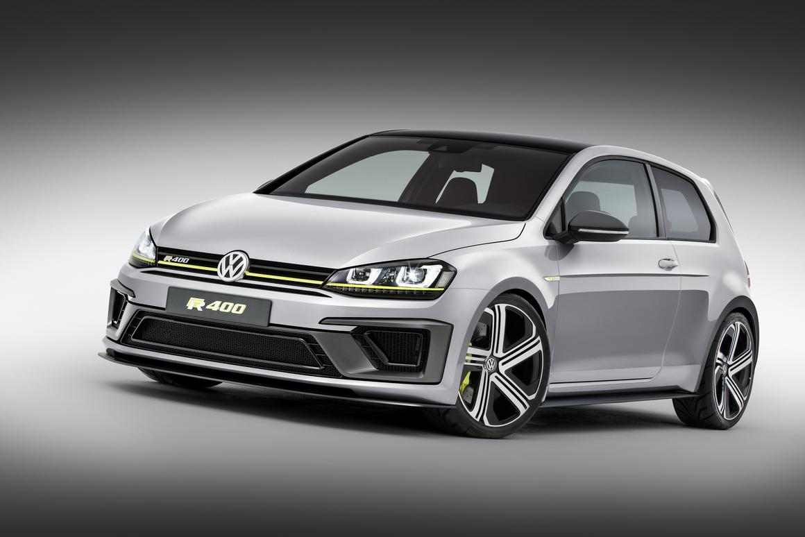 The VW Golf R 400 makes its debut at the Beijing Auto Show from April 21 to 29