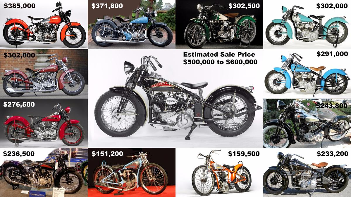 "If it sells, this 1936 Crocker ""hemi head"" will become just the fourth motorcycle and the first Crocker to sell at auction for more than $500,000"